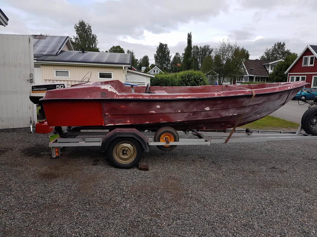 Biltema alkydfärg båt