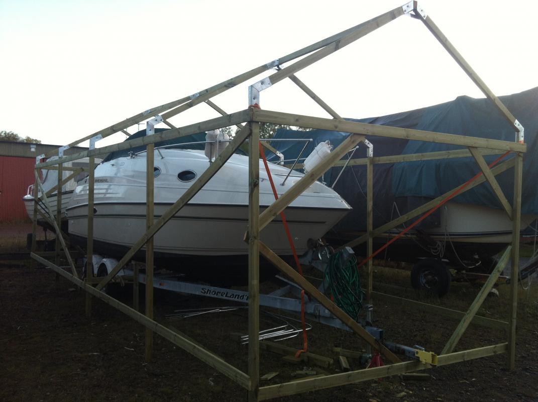 Billig täckställning båt