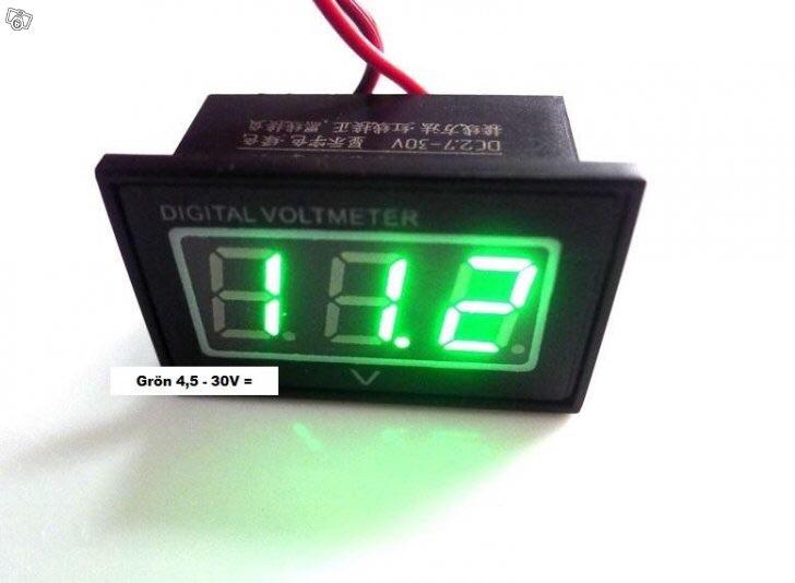 Voltmeter för montering i min panel ElSnack Maringuiden