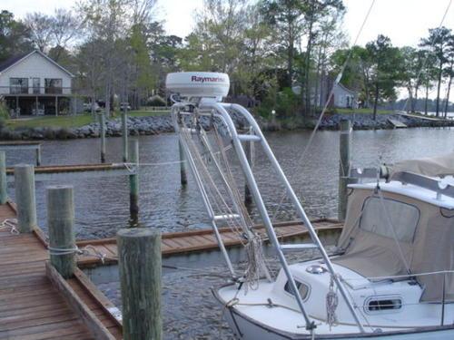 bygga targabåge till båt