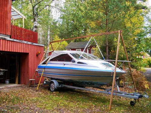 bygga täckställning båt